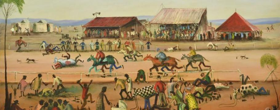 Pro Hart Auction Paintings Convey The Very Essence Of